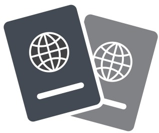 passports in shades of grey