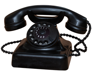 an old-fashioned black telephone